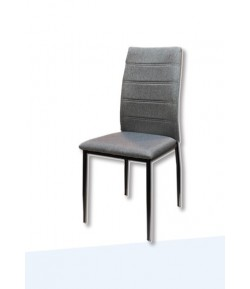Chaise Clash tissu gris