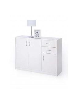 Rangement 3 portes 2 tiroirs blanc kevin