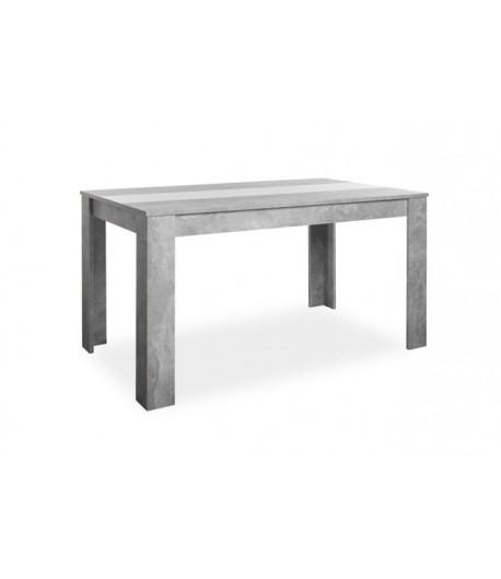 Table de séjour Nicole 140 cm blanc/béton