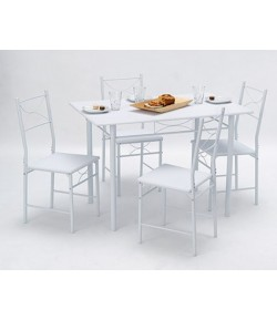 "TABLE ""WHITNEY"" + 4 CHAISES"