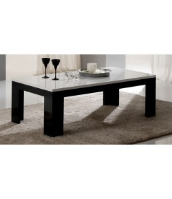 "Table basse blanc/noir ""LISA"""