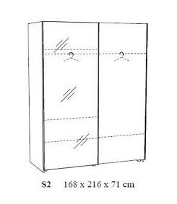 """Armoire """"LILLY"""" 2 - portes coulissantes"""