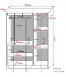 Armoire 3 portes blanche Burberry