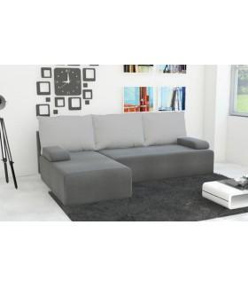 Salon d'angle Zeus convertible Lit gris clair
