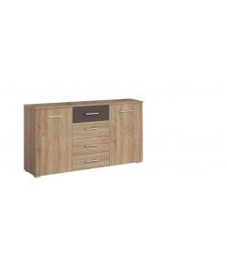 commode bambou 2 portes 4 tiroirs