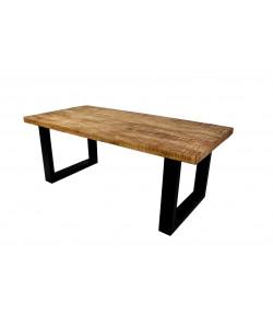Table de séjour pied U bois massif